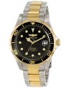 Men's Pro Diver Analog Display Japanese Quartz Two Tone Watch