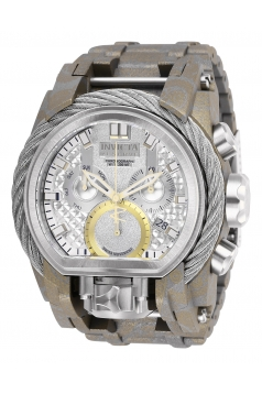 Men's Reserve Quartz 3 Hand Silver Dial Watch