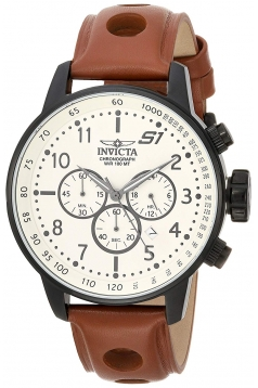 Men's 'S1 Rally' Quartz Stainless Steel and Leather Casual Watch
