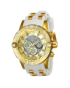 Men's Jason Taylor Glass Fiber Dial Steel & Polyurethane Strap Chrono Dive Watch