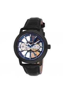 Men's Objet D Art Mechanical 2 Hand Blue, Black Dial Watch