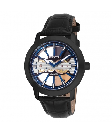 Men's Objet D Art Mechanical 2 Hand Blue, Black Dial Watch