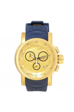 Men's S1 Rally Gold Dial Blue & Beige Silicone Strap Chronograph Watch