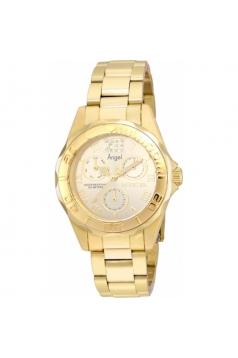 Women's Angel Quartz Chronograph Gold Dial Watch