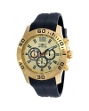 Pro Diver Chronograph Champagne Dial Black Silicone Mens Watch