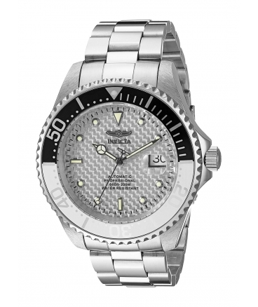 Men's Pro Diver Silver-Tone Stainless Steel Automatic Watch