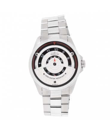 Men's S1 Rally Silver & Black Dial Automatic Watch