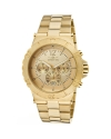 Men's Specialty Chronograph Gold Tone Dial 18k Gold Ion-Plated Watch