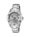 Women's Pro Diver Silver Dial Crystal Accented Flowers Watch