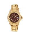Women's Angel Analog Display Swiss Quartz Gold Watch