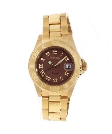 Women's Angel Analog Display Swiss Quartz Gold Watch