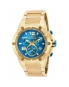 Speedway Chronograph Blue Dial Gold Ion-plated Mens Watch