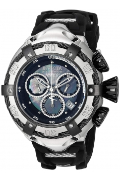 Men's 'Bolt' Quartz Stainless Steel and Silicone Casual Watch