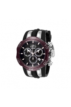Men's Venom Quartz Chronograph Black Dial Watch