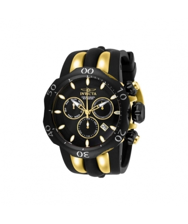 Men's Venom Quartz Chronograph Black, Gold Dial Watch