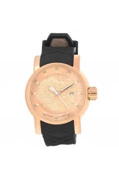S1 Rally Automatic Rose Dial Black Polyurethane Mens Watch