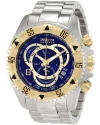 Men's Reserve Chronograph Blue Dial Stainless Steel Watch
