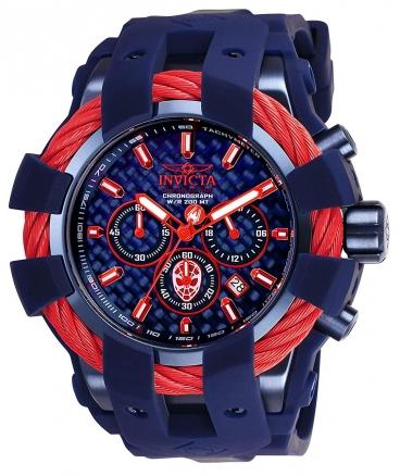 Men's Marvel Quartz Chronograph Blue Dial Watch